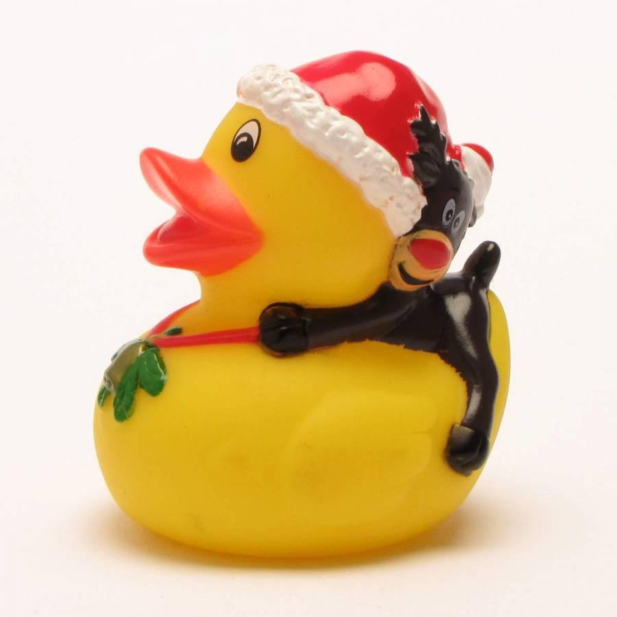 Badeente Weihnachtsmann Quietscheentchen Gummiente Plastikente Quietscheente