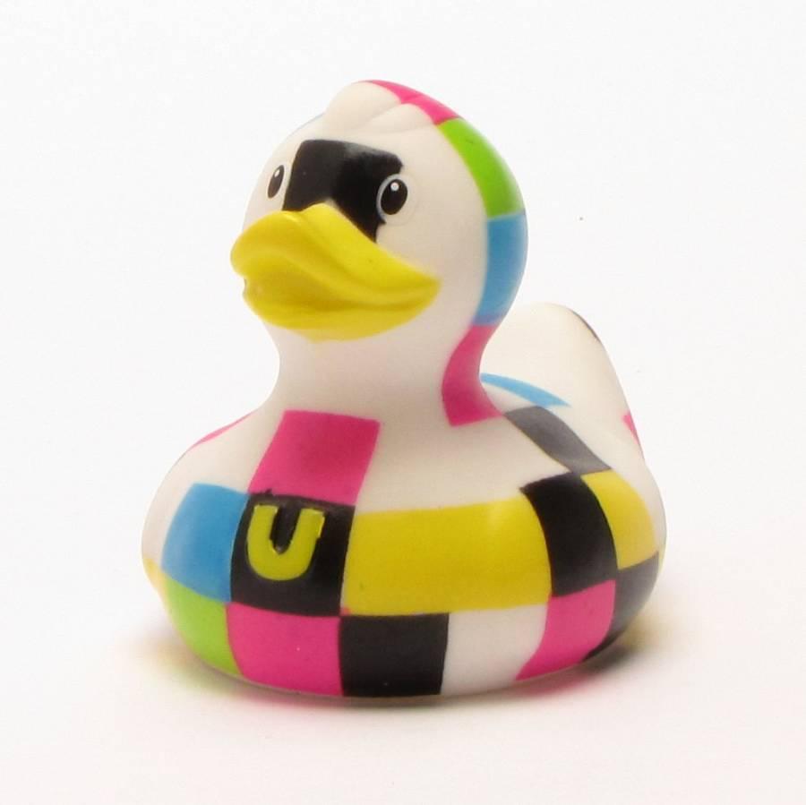 Mini-Static-Bud-Duck-Badeente-Quietscheentchen