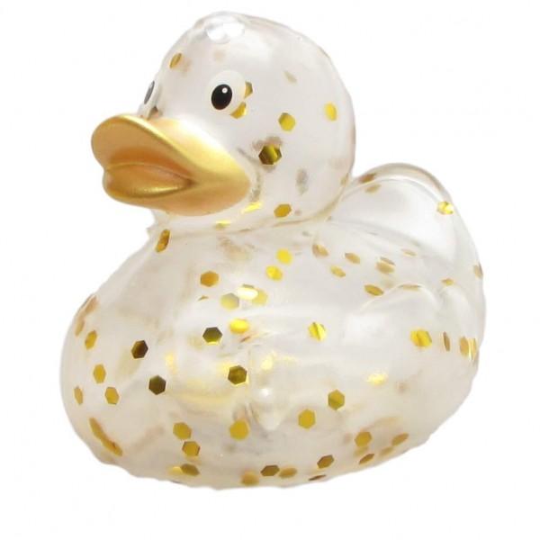 Rubber Ducky Glitzer gold