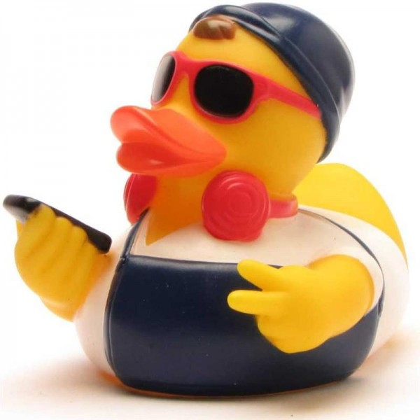 Hipster Rubber Duck - white