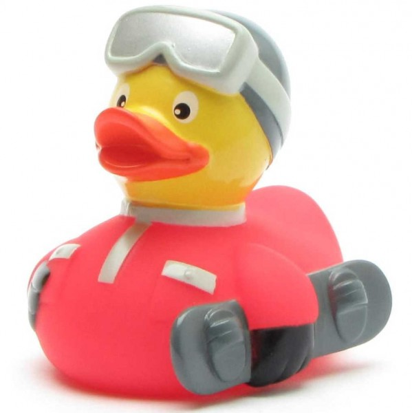 Snowboard Rubber Duck - red