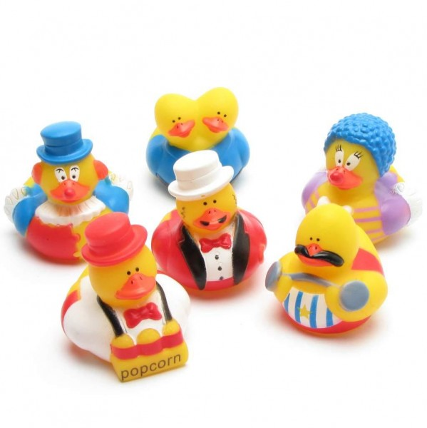 Circus Rubber Ducks - Set of 6