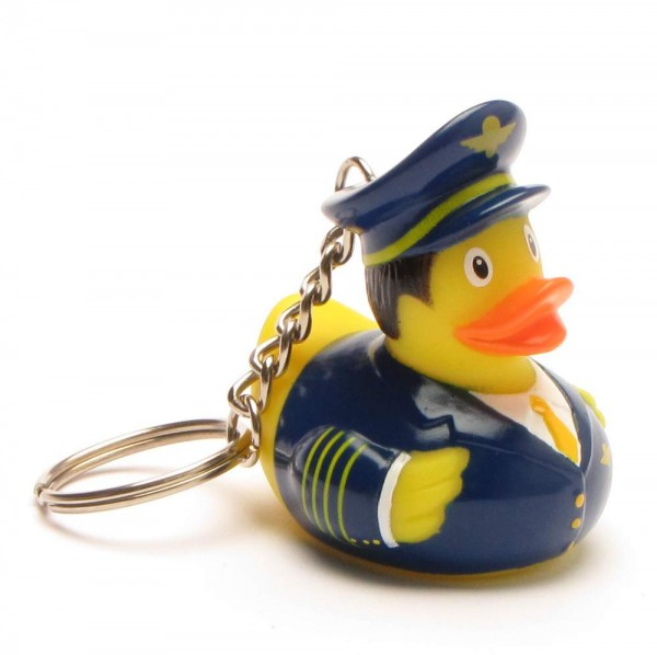 Schlüsselanhänger Badeente Pilot