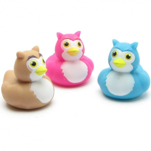 Owls Rubber Ducks - Set of 3
