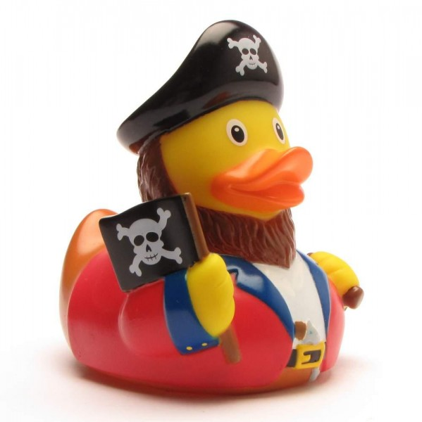 Rubber Duck Pirate with flag