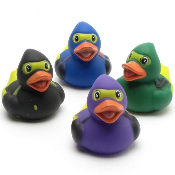 Ninja Rubber Ducks - Set of 4