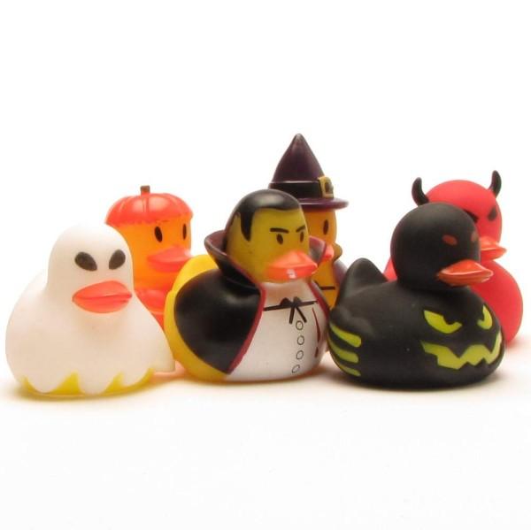Badeenten-Set Halloween 6er Set