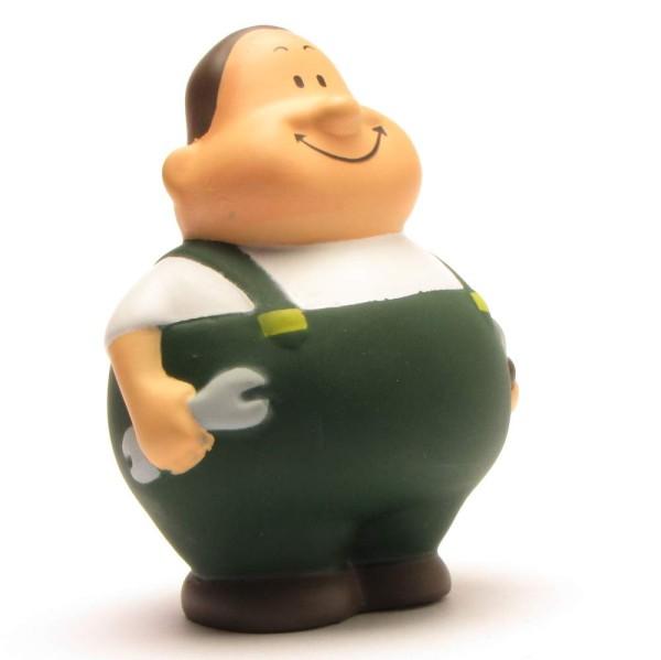 Squeaky-Bert car mechanic green