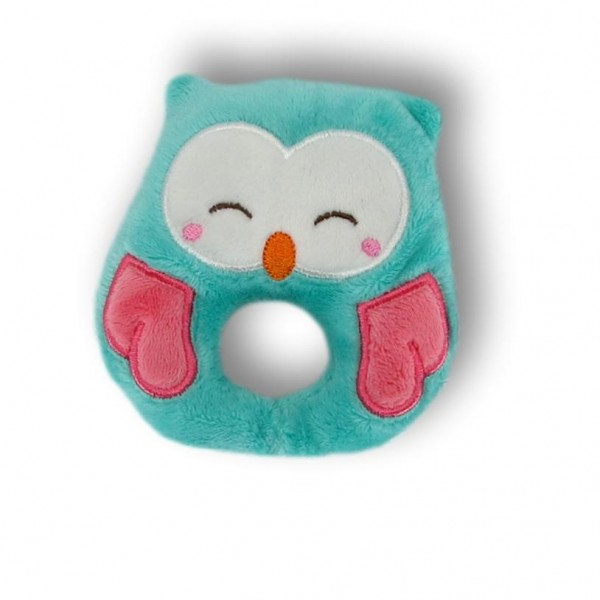 Soft toy owl with rattle