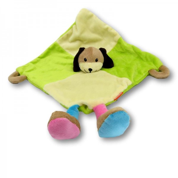 Cuddle cloth dog coloured