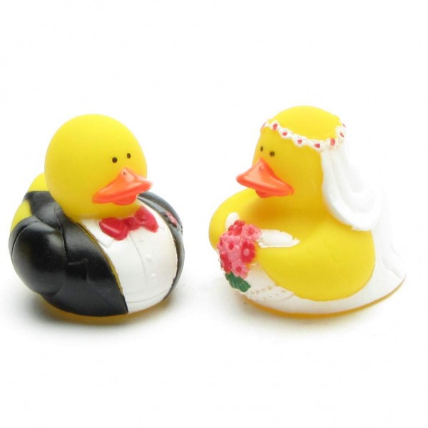 Bride and Groom Rubber Duck - Set of 2