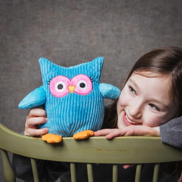 Soft toy owl blue