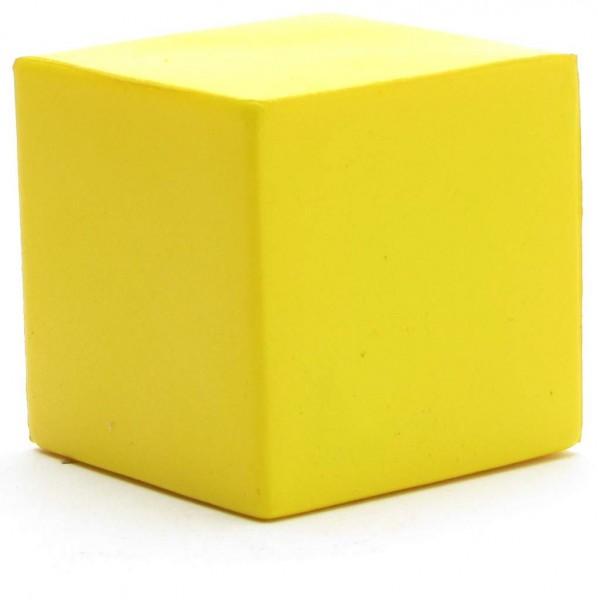 Crumple figure - Cube yellow