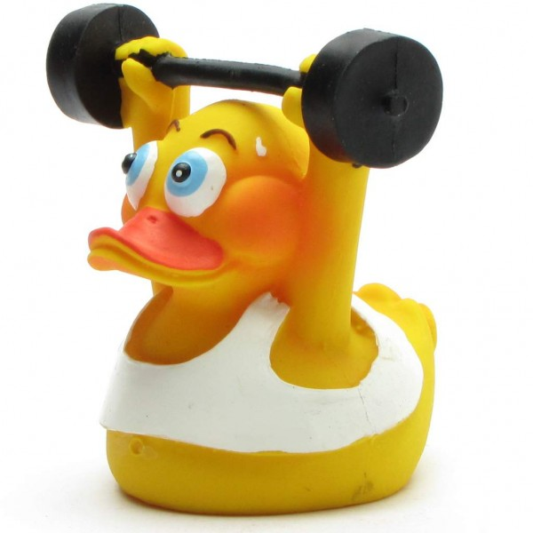Squeaking duck Weightlifter