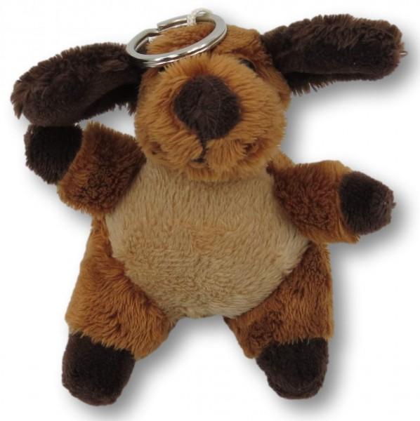 Plush dog with keychain