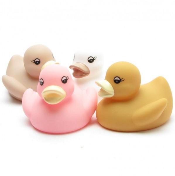 Coloured bath ducks - set of 4