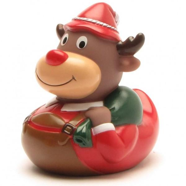 Rubber Duck Reindeer in Bavarian look