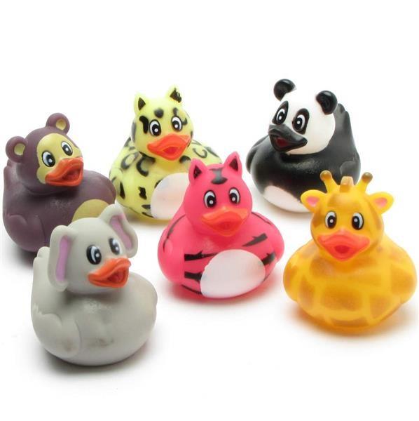 Dierentuindieren van Badeendjes set van 6