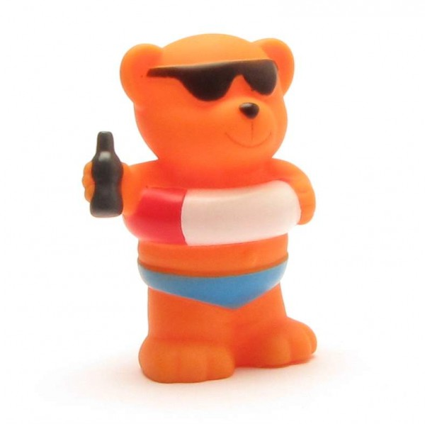 Squeaky bear with swim ring