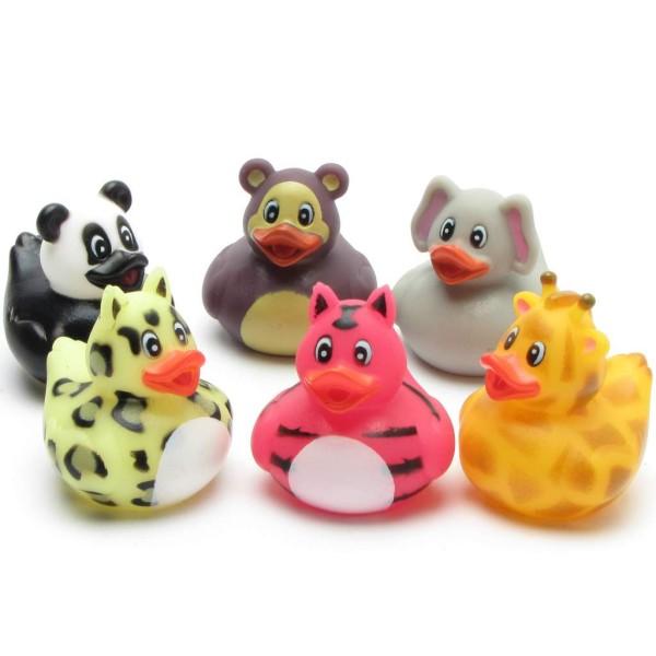 Zoo Animals Rubber Ducks - Set of 6