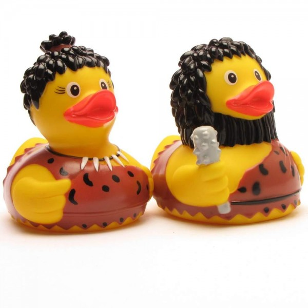 Rubber Duck Neanderthal Pair of 2