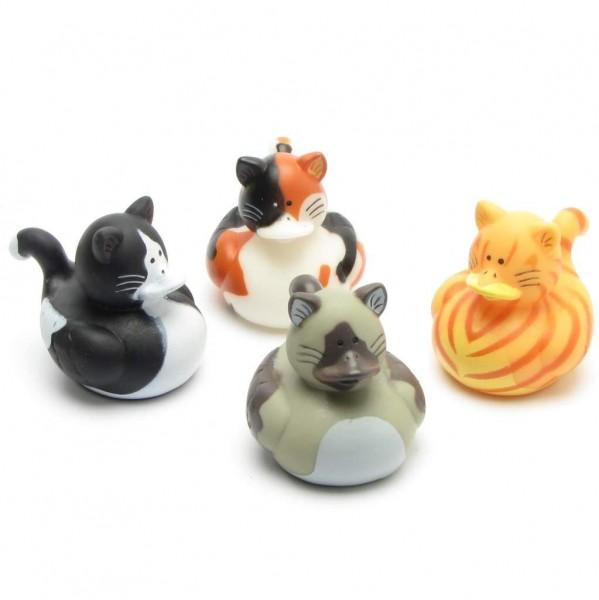 Cat Rubber Ducks - Set of 4