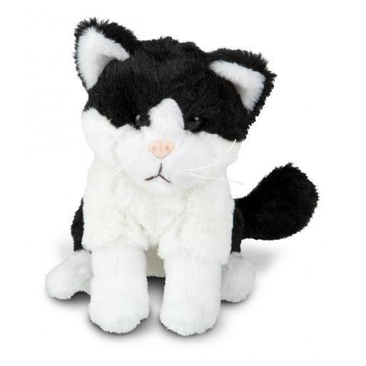 soft toy dragon cat black/white