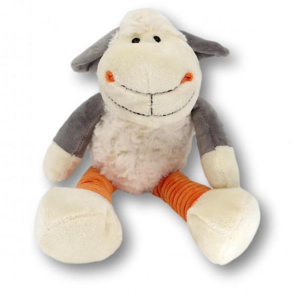 soft toy sheep Elke white/orange