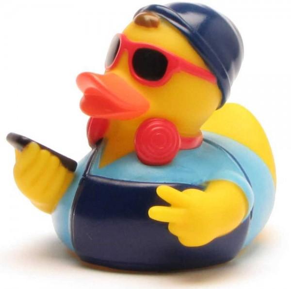 Hipster Rubber Duck - blue