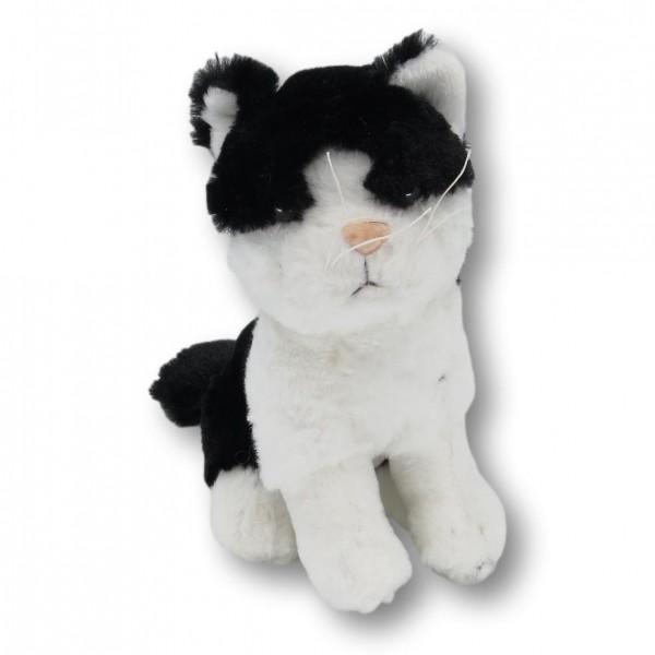 Plüschtier Drache Katze schwarz/weiß
