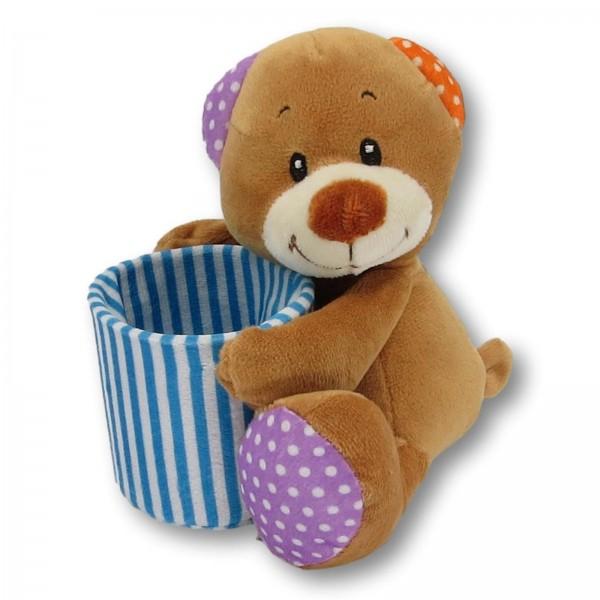 soft toy pencil holder bear