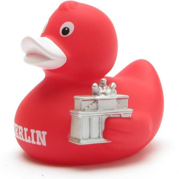 Rubber Duck Berlin with Brandenburg Gate