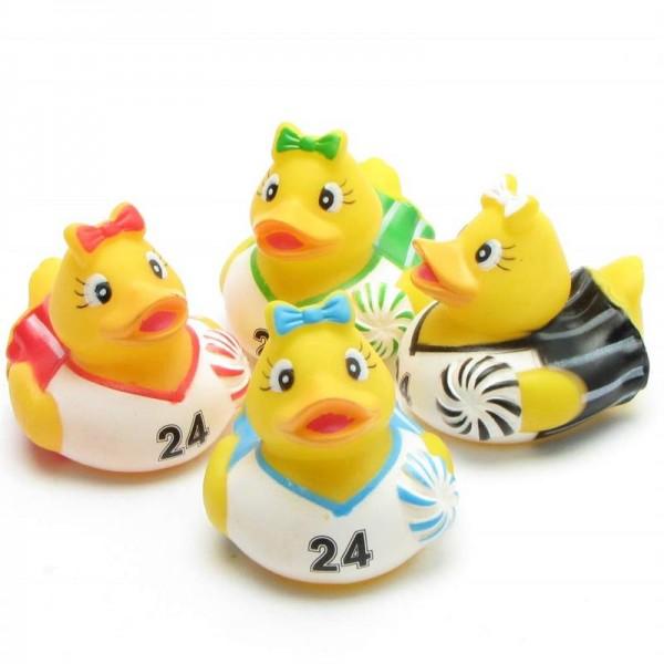 Cheerleader Rubber Duck - set of 4