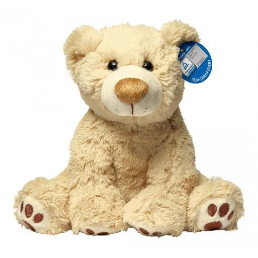 Soft toy bear Ralle with embroidered paws