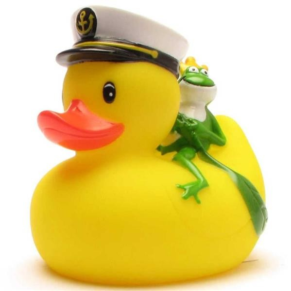 Captain Rubber Duckie with Frog King