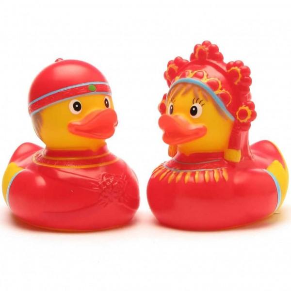 Canards de bain mariée et le marié Russie