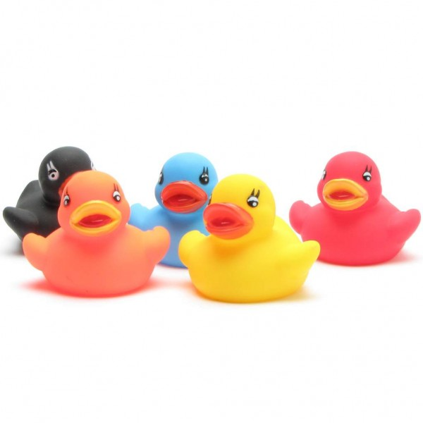 Rubber Ducks Set of 5 - colourful