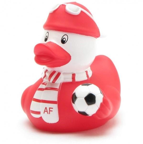 Rubber Ducky football fan red-white