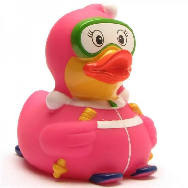 Ski bunny Rubber Duck pink