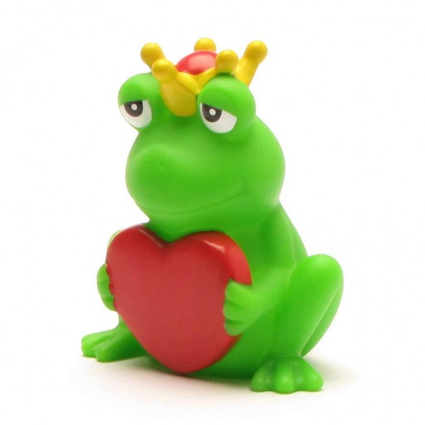 Frog King with greeting heart