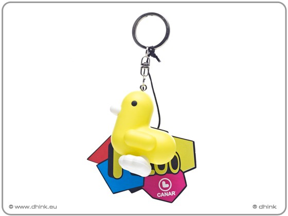 Key ring FLUO yellow