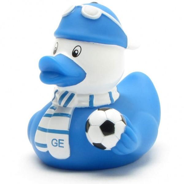 Quietscheente Fußball-Fan Gelsenkirchen blau-weiss