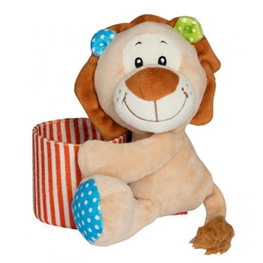 Plush toy pen holder lion