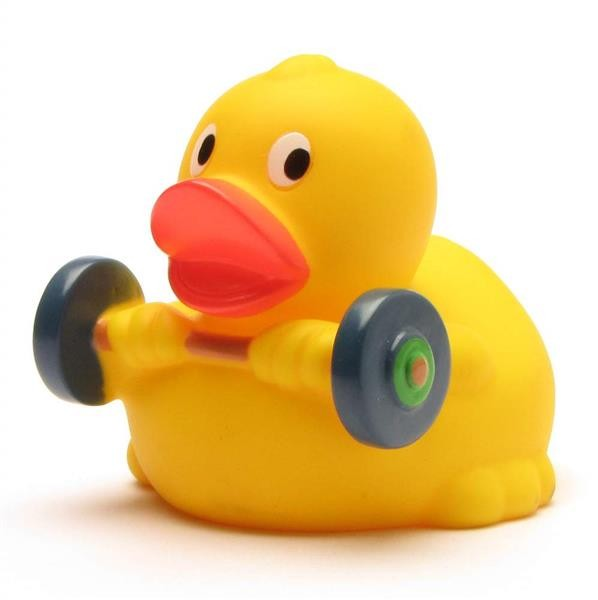 Rubber Ducky Weightlifter