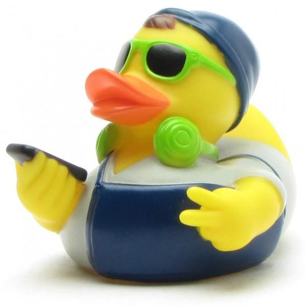 Hipster Rubber Duck - green