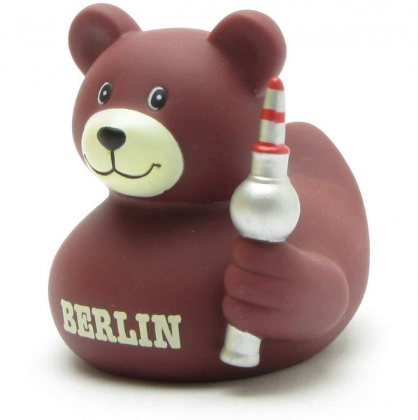 Rubber Duck Berlin Bear with television tower