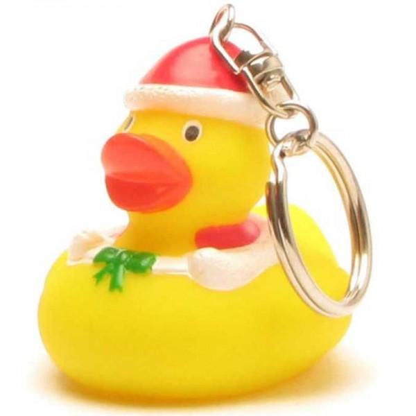 Schlüsselanhänger Weihnachts-Quietscheente