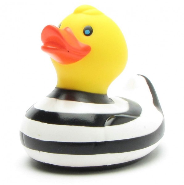 Rubber Duck black with white stripes