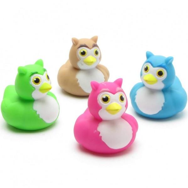 Owls Rubber Ducks - Set of 4