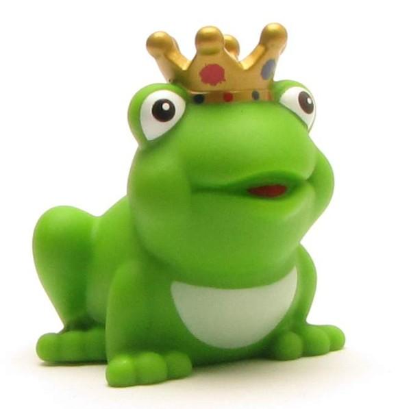 Froschkönig mit goldenem Krönchen
